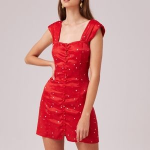 NWT Finders Keepers Red Heart Mini Dress Size S